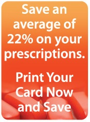 Save an average of 22% on youe prescriptions