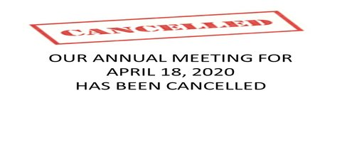 Annual Meeting Cancelled